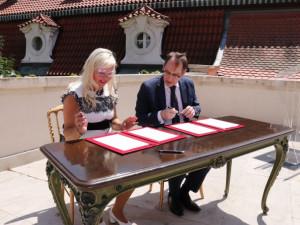 Francouzské velvyslanectví darovalo brněnské nemocnici za ochotu postarat se o nemocné přístroj za čtvrt milionu