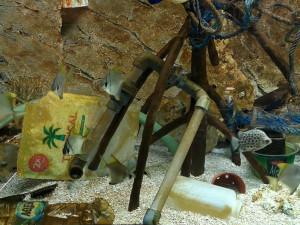 FOTO: Nové akvárium v brněnské zoo je plné plastu. Zoo tak chce upozornit na znečišťování oceánů