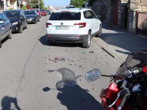V Brně se srazil Karoq s Hondou, policisté hledají svědky