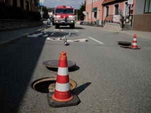 FOTO: Únik plynu uzavřel brněnskou Belcrediho ulici