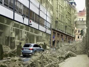 FOTO: Nebe se zatáhlo a město začalo hořet. Přesně před 76 začalo bombardování Brna spojeneckými vojsky