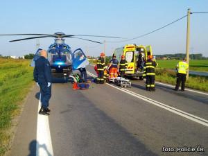 Na Hodonínsku se čelně srazil nákladní vůz s osobním, dva lidé zemřeli