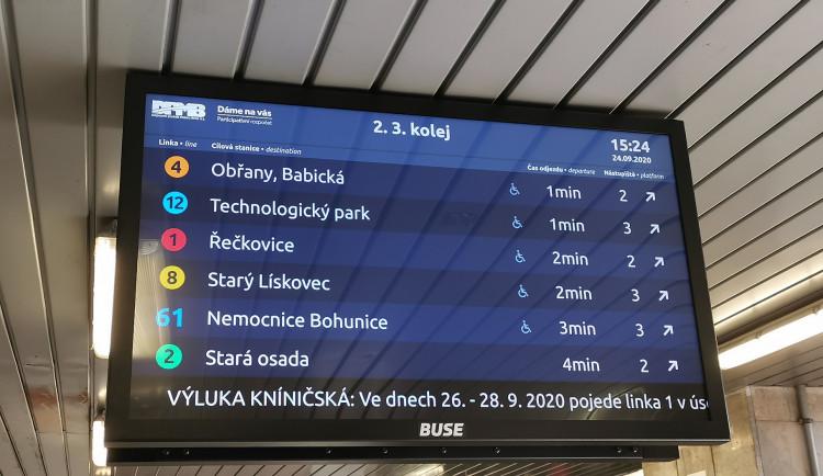 Konec zbytečného pobíhání. V podchodu hlavního nádraží přibyly nové informační tabule s odjezdy