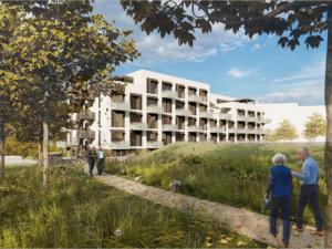 V Bystrci vyroste nový dům pro seniory, bude mít zahradu s altánem, zelenou střechu i terasy