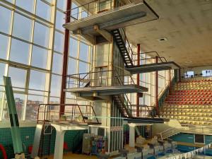 Město chce opravit skokanskou věž v plaveckém stadionu za Lužánkami