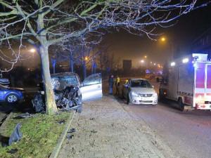 Řidič nezvládl předjíždění, náraz do stromu nepřežil