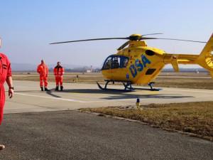 Mladého muže srazil kamion, do nemocnice ho v kritickém stavu přepravil vrtulník