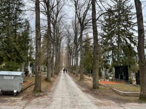 Nové cesty na Ústředním hřbitově  budou zadržovat vodu