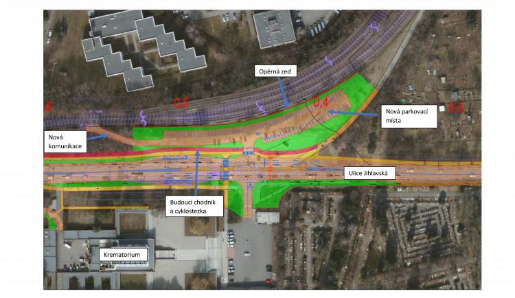 Brno schválilo nové parkoviště u krematoria, začít stavět by se mělo za dva roky