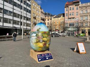 Náměstí Svobody zdobí velikonoční kraslice z Chorvatska