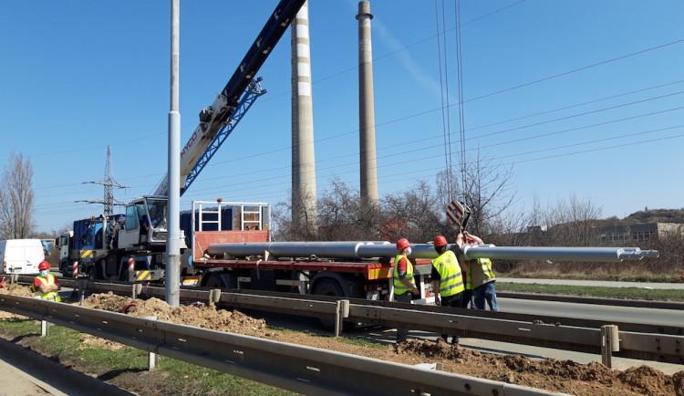 V Brně vzniká manipulační trať pro trolejbusy, poslouží při stavbě velkého okruhu