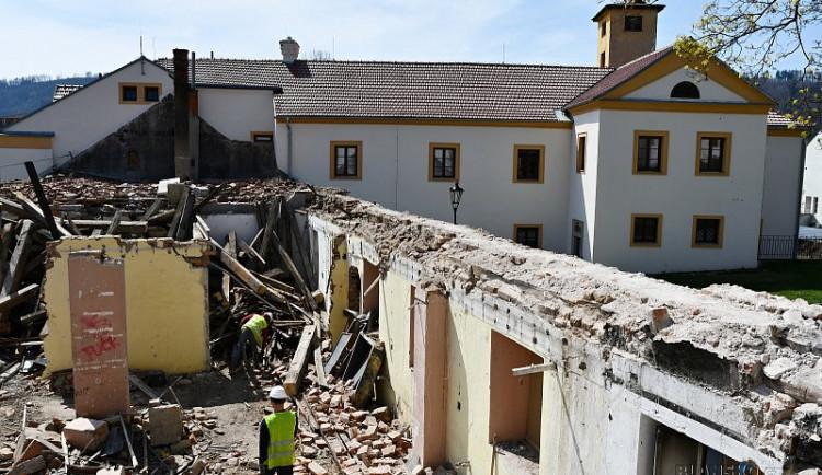 Blanenské předzámčí se opravuje, bude v něm sídlit škola i muzeum