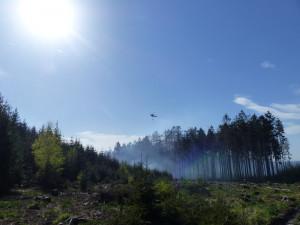 Hasiči likvidují rozsáhlý požár na Blanensku