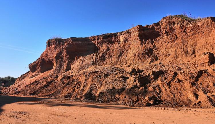 Místo těžebního prostoru park. Černovická pískovna se zazelená