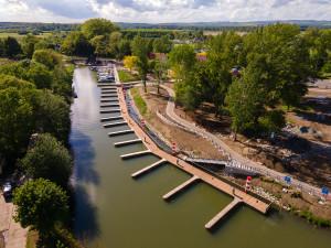 Na Baťově kanále se otevírá nově zmodernizovaný přístav