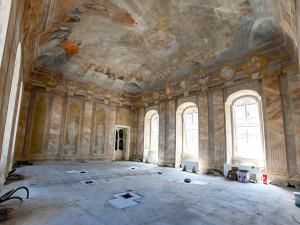 Na brněnské radnici obnovili vzácné freskové malby