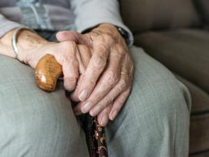 Vznětlivý důchodce útočil berlí, pak zdravotní pomůcku lovil z kašny