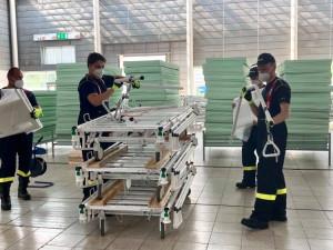 Polní nemocnice na brněnském výstavišti končí, vybavení se odváží do skladu