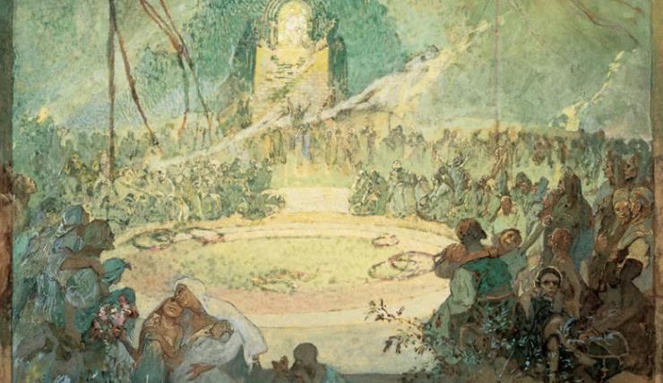 Peníze na obnovu Muchova památníku chtějí Ivančice získat prodejem pohlednic