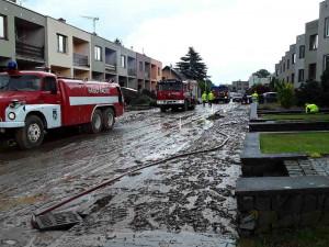 V Drnovicích pokračují v odstraňování následků přívalového deště