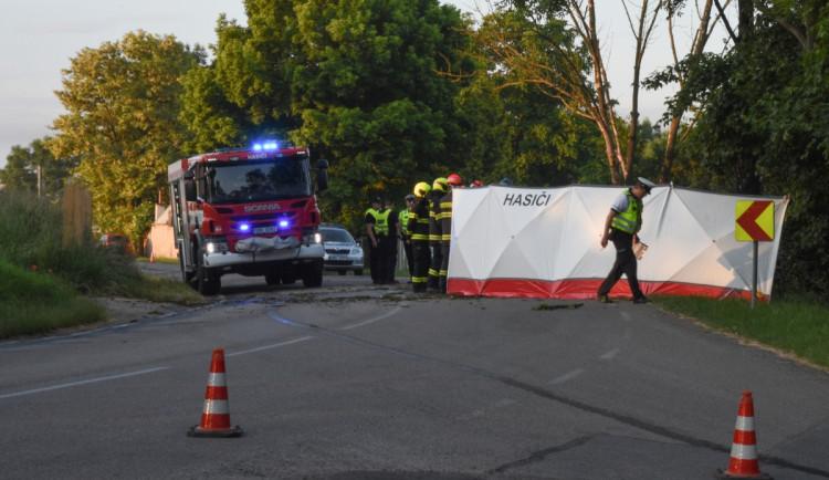 Senior na Brněnsku nepřežil náraz do stromu, auto skončilo v plamenech