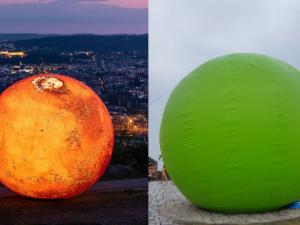Zmenšený Mars i Mendelův hrášek. Do Brna lákají nafukovací modely