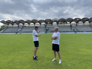 Do Drnovic se vrací profi fotbal, Vyškov se na slavném stadionu touží zachránit