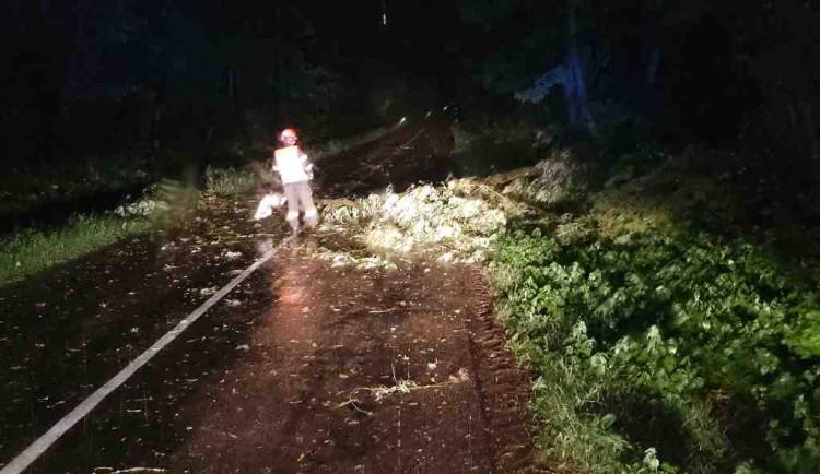Jihomoravští hasiči kvůli bouřkám zasahovali u stovky událostí, hlavně u stromů