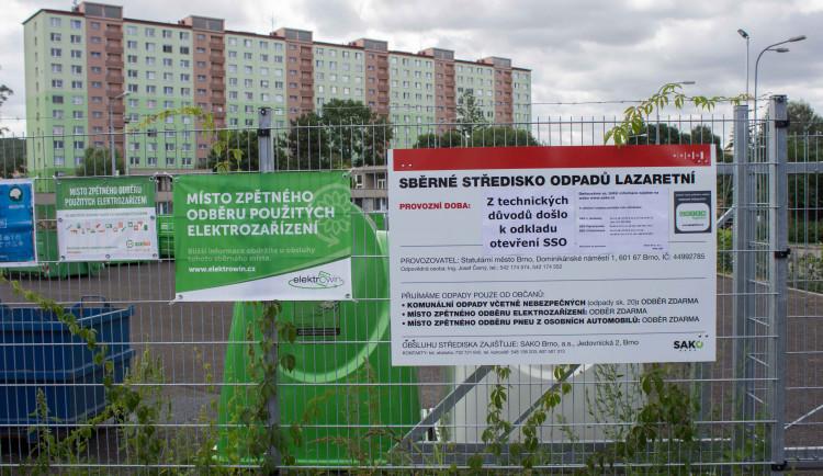 Brno otevřelo v Židenicích sběrný dvůr, lidé tam ale zatím nesmí