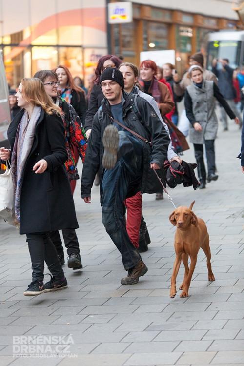 Švihlý pochod v Brně, foto: Brněnská Drbna, Miroslav Toman