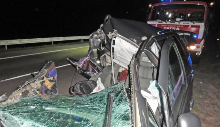 Tragická nehoda na D2, foto: HZS JMK