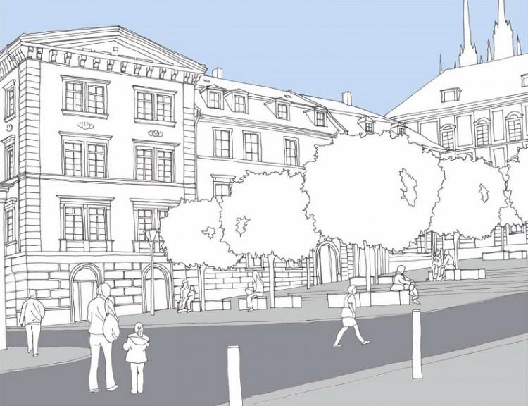 Budoucí podoba Zelného trhu, vizualizace: Brno-střed