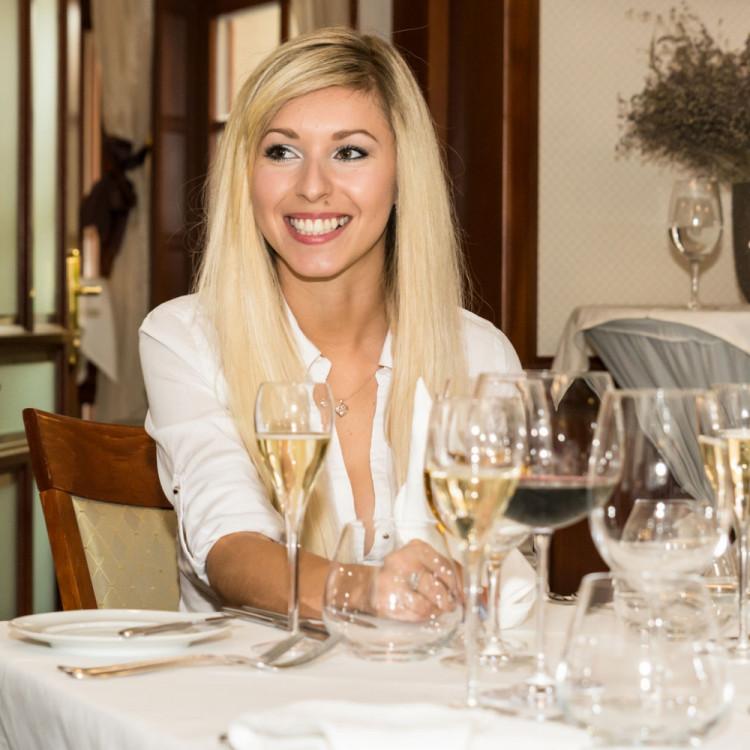 Loňská vítězka Andrea Michalová na večeři v Hotelu U Solné brány