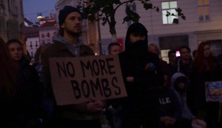 V Brně se demonstrovalo proti podpoře turecké ofenzívy v severní Sýrii